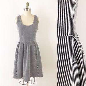 Banana Republic Ponte Striped Sleeveless Dress 8